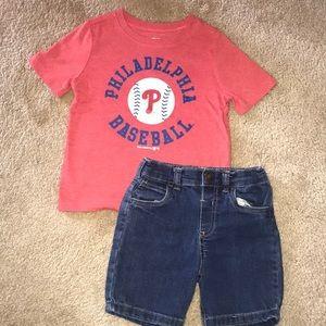 3T Philadelphia Phillies T Shirt & Shorts Set⚾️